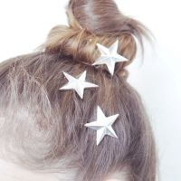 starry night silver star clips
