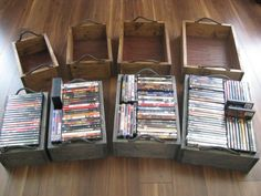 nesting dvd storage boxes