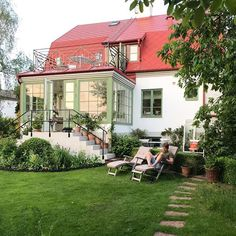 Welcome To My House, Cottage, Swedish House, House Extensions, My Dream Home, Exterior Design, Future House, Beautiful Homes, Outdoor Living