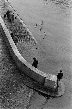 """undr: """"Sergio Larrain. Paris, France. Along the Seine river. 1959. """""""