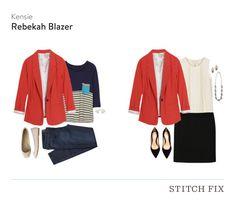 Kensie Rebekah Contrast Detail Blazer $88 (Kept) - Stitch Fix #4 - September 2015