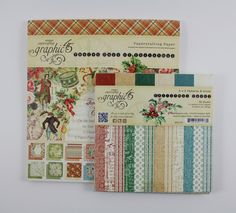 #Papercrafting the Holidays: Brandy's sharing a step-by-step #tutorial for creating a lovely #pocket #journal for the #12DaysOfChristmas. It's created from holiday collection products like those shown here, from @graphic45! Collections: #AChristmasCarol #TwelveDaysOfChristmas