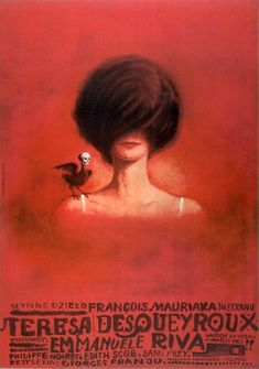 Polish poster for Therese Desqueyroux (Georges Franju, France, 1962);  artist: Franciszek Starowieyski (1930-2009).