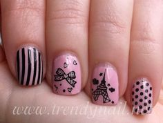 Oh my gosh! Creative Nail Designs, Creative Nails, Nail Art Designs, Nails Design, Love Nails, How To Do Nails, Fun Nails, Eiffel Tower Nails, Paris Nails