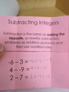 Made 4 Math Monday – Foldables (Expressions, PEMDAS, Decimals, Fractions and Integers) « Hoppe Ninja Math – Teacher Blog
