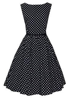 Anni Coco Women's Audrey Hepburn 1950s Vintage Polka Dot Dresses Black X-small Anni Coco http://www.amazon.com/dp/B00VUXGF5U/ref=cm_sw_r_pi_dp_4Rlnvb1H4KP6K