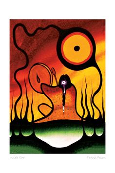 Sunrise Ceremony by Frank Polson. An artist I am still discovering but love his work and his use of colors and east coast style shapes. Native American Paintings, Native American Artists, Indian Paintings, Art Paintings, Haida Art, Canadian Art, Wow Art, American Indian Art, Indigenous Art
