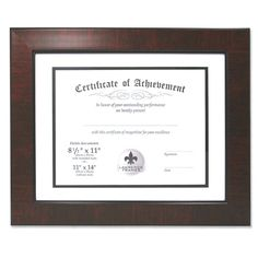 Lawrence Frames Dual Use Mahogany Certificate Frame - 187011