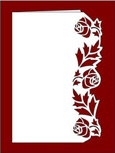 Over The Edge Floral Border 2 Stencil Patterns, Stencil Designs, Paper Cutting Patterns, Stencil Painting, Fabric Painting, Kirigami, Motif Arabesque, Greeting Card Video, Chinese Paper Cutting