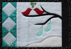 Snow Birds Mug Rug Pattern - The Snow Birds Mug Rug Pattern is an easy quilting project that features simple, free applique designs for little birds, stockings, and a winter tree. This adorable DIY mug rug would make a fantastic quilted gift for a friend or family member. Itd be the perfect stocking stuffer, too. Nothing says Christmas cheer like sipping a hot cup of cocoa. Make your chocolate-sipping evenings by the fire even more festive by learning how to make a mug rug that is all cheer.