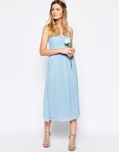 Bild 4 von Vila – Mittellanges, schulterfreies Kleid