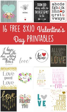 """These """"love-ly"""" free 8x10 Valentine's Day printables are the perfect way to decorate your home and spread the love this Valentine's Day."""