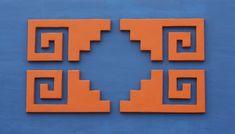 REVISTA DIGITAL APUNTES DE ARQUITECTURA: La Chacana, la cruz cuadrada andina, el simbolo mas importante de la Cultura Andina Art Decor, Decoration, Aztec Art, Mexican Style, Chicano, Sacred Geometry, Art Projects, Stencils, Christmas Crafts