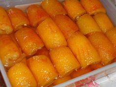 Πολύ ωραίο γλυκό του κουταλιού πορτοκάλι - Καλοκέραστο! Greek Desserts, Marmalade, Syrup, Carrots, Sweets, Canning, Vegetables, Food, Interior