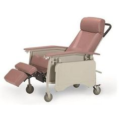 Deluxe Reclining 3 Position Chair W/ A Built In Collapsible TV Table  (Invacare 3 Position Deluxe Geri Chair Recliner In Rosewood)