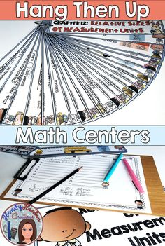 Upper Elementary Hanging Math Centers for you students to review math skill concepts from 4th grade Go Math Chapter 12.