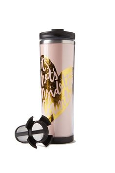 Typo: tea-riffic travel mug $17