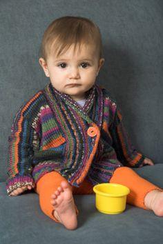 Sweet! Adriafil Knitcol Baby Cardigan Knitting Pattern