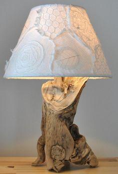 treibholz lampe diy ideen tischleuchte lampenschirm #LampWohnzimmer