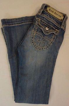 Rock Revival Elizabeth light wash denim wide leg jeans SZ 25 Buckle #RockRevival #WideLegjeans #jeans