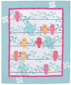 """Ready for a dose of downright darling baby quilts? Start with simple patchwork backgrounds; add a dash of adorable appliqué animals. Click through for more """"Awww!"""" inspiring quilts from the new book Animal Parade 2."""