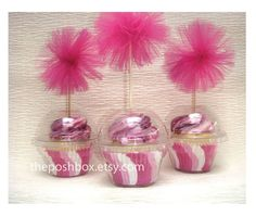 """Posh Box"" plastic cupcake holders with open or closed dome lids {great idea!}  $10 for 20"
