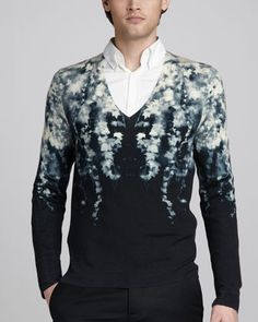 So beautiful it hurts.  Ivy-Print Sweater by Alexander McQueen at Neiman Marcus.