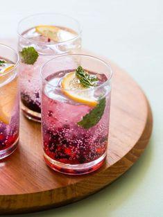 Blackberry and Meyer Lemon Gin and Tonics - fancy-edibles.com