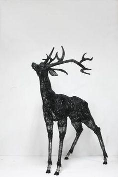 """Saatchi Art Artist Yong-won SONG; Sculpture, """"Augmented reality+Deer"""" #art"""