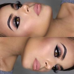 Nudes @jasmijniris  brows: #Dipbrow in Dark Brown  EYES: #abhshadows in Morocco & Dark Chocolate shimmer  LASHES: @lashesbylena in Naomi  CONTOUR: #ABHContourKit in powder  LIPS: Crush Liquid Lipstick  #anastasiabeverlyhills