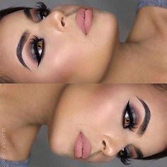Nudes @jasmijniris brows: #Dipbrow in Dark Brown EYES: #abhshadows in Morocco & Dark Chocolate shimmer LASHES: @lashesbylena in Naomi CONTOUR: #ABHContourKit in powder LIPS: Crush Liquid Lipstick #anastasiabeverlyhills