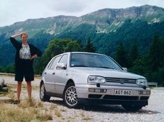 Make & Model: VW Golf VR6 Mark3, Register: AGT-862, Purchased: 1995, Sold: 1997, Comments: The first car that I really liked. 174 hp and loads of torque. Many memorable trips like this one in the summer of '97. As the register plate says, A (true) GT.