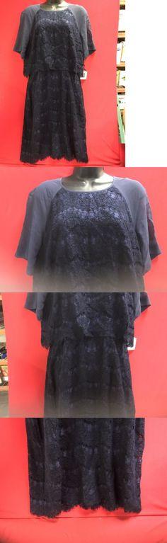 Sexy Women Dresses: Anne Klein Women S Lace Chiffon Short Sleeve Sheath Dress Size 12 -> BUY IT NOW ONLY: $49.99 on eBay!