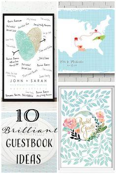 10 Brilliant Wedding Guestbook Ideas#guestbooks