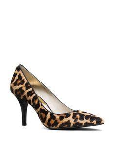 MICHAEL Michael Kors Flex Leopard Print Calf Hair Pointed Pumps | Bloomingdale's
