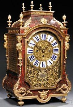 Mantel Clock; Elliot?, Boulle, Faux Tortoiseshell, Pagoda Top, Ormolu Mounts, Chime on Bells, 23 inch. Year: 1880 - 1900