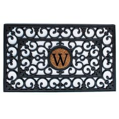 Home  More 150011830W Rubber Doormat 18 x 30 x 060 Monogrammed Letter W Black >>> Check out this great product.