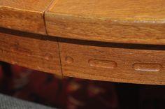 Nils Jonsson extending teak dining table in stock. Timeless style.