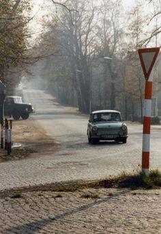 Cobbled road at Moritzburg, DDR. 8 November 1989   by sludgegulper