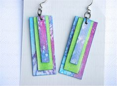 How to make paper jewelry- cute earrings – Nbeads