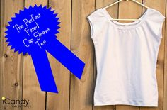 Free Sewing Pattern & Tutorial - The Perfect Fitted Cap Sleeve Tee, Sz M