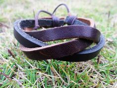 Adjustable  Cuff Bracelet Made With 3 PCS Leather by braceletcool, $3.00