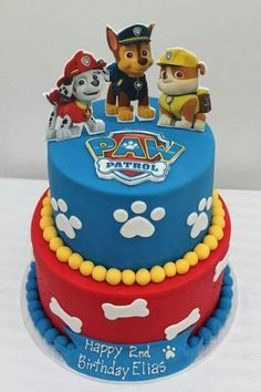 45 Magnificent Birthday Cake Designs for Kids - Paw patrol birthday cake - Cake Design Paw Patrol Birthday Cake, 3rd Birthday Cakes, Birthday Cake Card, Rainbow Birthday, Birthday Ideas, 4th Birthday, Cake Rainbow, Birthday Celebration, Paw Patrol Birthday Theme