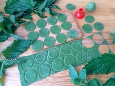зеленая лапша из крапивы