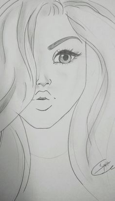 Pin by sahla shameer on my space my creation in 2019 pintere Girl Drawing Sketches, Girly Drawings, Art Drawings For Kids, Art Drawings Sketches Simple, Pencil Art Drawings, Love Drawings, Cartoon Drawings, Hand Drawings, Art Drawings Beautiful