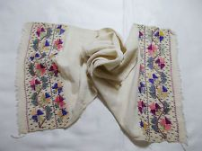 Ottoman turkish embroidery towel with silk threads Point Lace, Silk Thread, Ottomans, Floral Tie, Hand Embroidery, Knitting Patterns, Apron, Towel, Objects