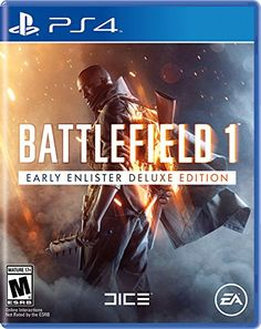 Battlefield 1 Early Enlister Deluxe Edition  PlayStation 4 ** Read more  at the image link.Note:It is affiliate link to Amazon.