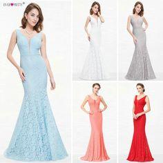 Csipke Mermaid Prom Dresses hosszú 2018 valaha csinos EP08838 karácsonyi ünnep fél szexi nyakú elegáns Prom gála ruhák