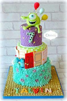 monster 7 birthday cake