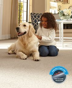 The only smart carpet that is both stain and wear resistant carpet with built in nanoloc technology. Great for children and pets.